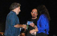 Mike, Ian & Tania, backstage